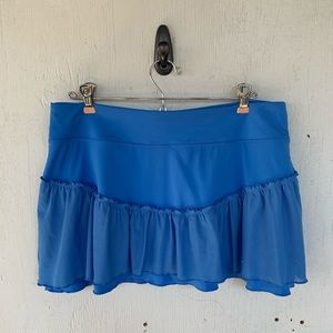 Nike Blue Point Set Classic Ruffle Tennis Skort